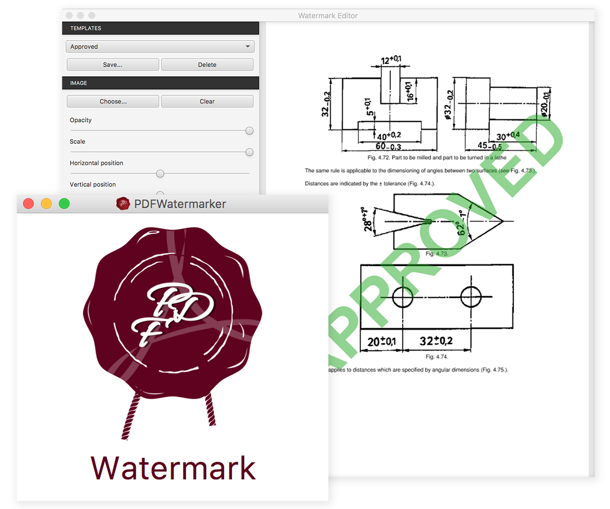 PDFWatermarker Screen shot